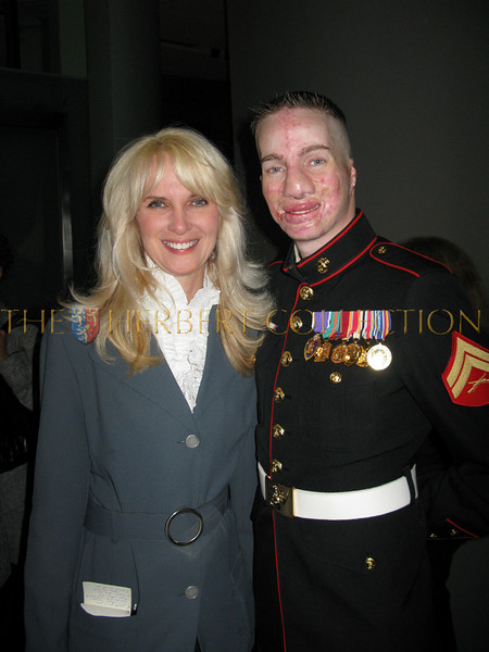 Sara Herbert-Galloway and Marine Cpl. Aaron P Mankin from Arkansas