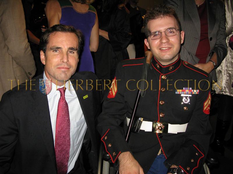 Bob Woodruff and Retired Marine Steven Schulz (helpsteven.com)