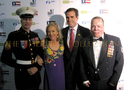 Marine Cpl. Aaron Mankin, Lee and Bob Woodruff, Marine Sgt. Merlin German (Merlins Miracle's)