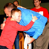 Debbie Blank | The Herald-Tribune<br /> Proud son Brody, 6, embraces his dad, the BMS principal. He was at the ceremony with mom Cheryl, not pictured.