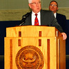 "Debbie Blank | The Herald-Tribune<br /> Mayor Mike Bettice called David Strouse ""somebody who means a lot to the school corporation and city of Batesville."" Of the principal, his daughter told Bettice ""what a great example he set for a rookie teacher."" The mayor concluded, ""An honor like this doesn't just come to one individual ... It happens because there are a lot of people working together ... He gets this because of the hard work of the teachers ... and students."""