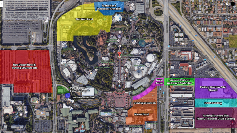 INFOGRAPHIC: A look at how expansive new Disneyland Resort projects will be in Anaheim