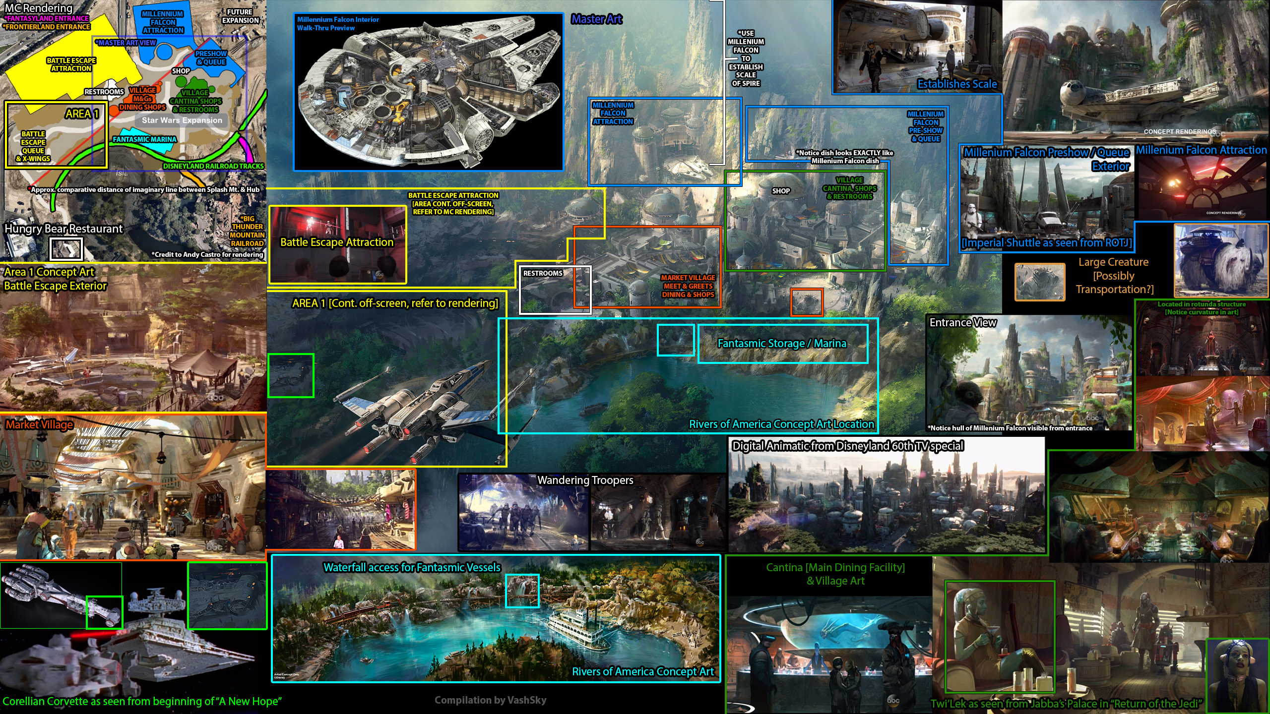Get a lay of the land with this infographic by @VashSky for new Star Wars themed land!