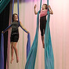 Record-Eagle/Jan-Michael Stump<br /> Dayton Ristow, left, and Liliya Burden practice for their upcoming Starfish Circus performance.
