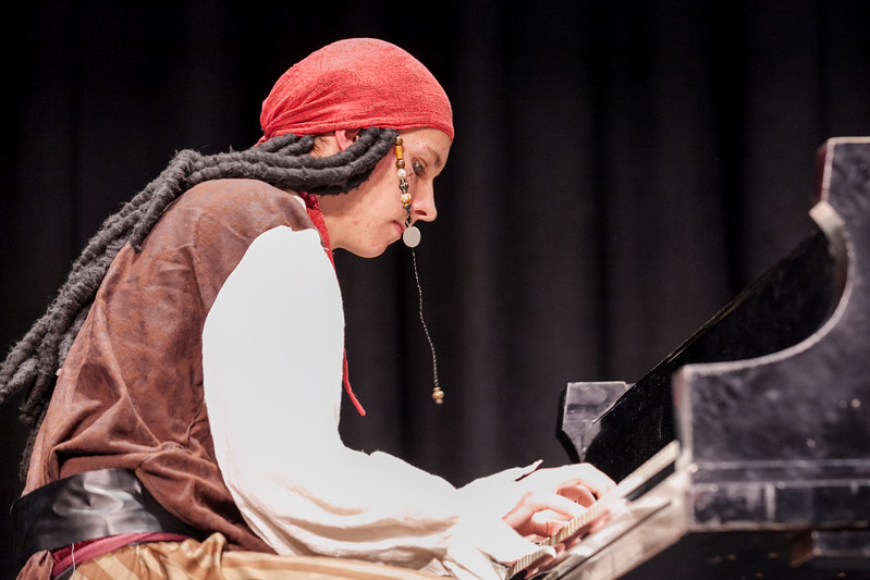 "Tibby McDowell | The Sheridan Press<br /> Hunter Andersen his piano solo ""Pirates of the Caribbean"" in Stars of Tomorrow at the WYO Performing Arts and Education Center Friday Feb. 23, 2018."