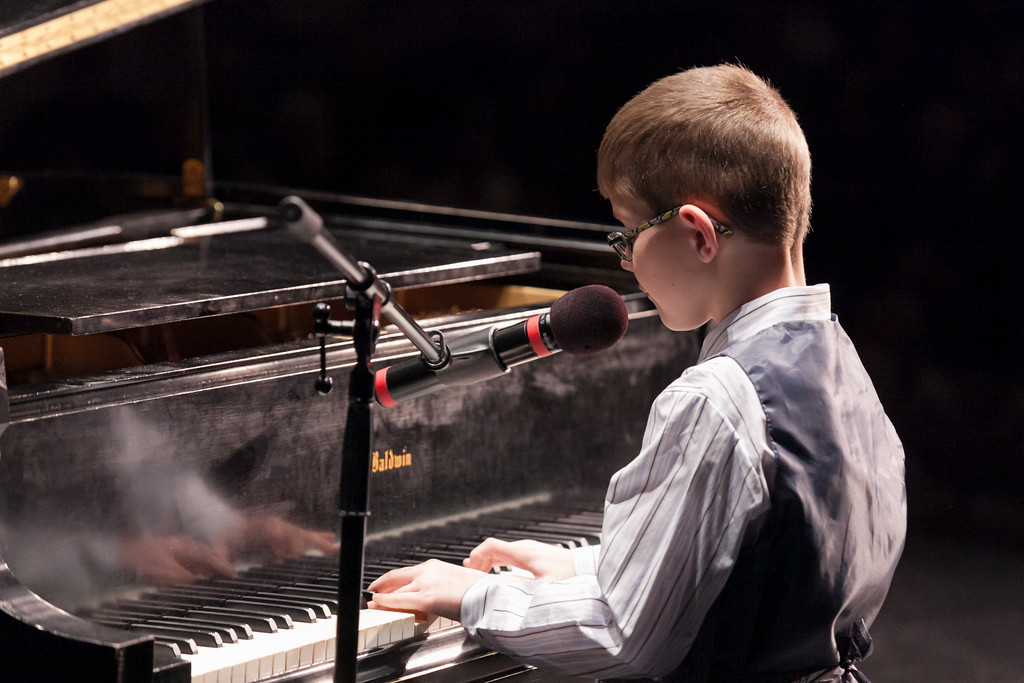 "Tibby McDowell | The Sheridan Press<br /> Samuel Wilcock plays ""Climb Every Mountain Medley"" on the piano as his performance in the elementary division during Stars of Tomorrow at the WYO Performing Arts and Education Center Friday Feb. 23, 2018."