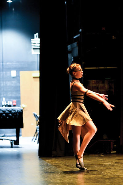 "Matthew Gaston | The Sheridan Press<br>Allana Bickle, 12, performed a ballet dance for her audition for ""Stars of Tomorrow"" at the WYO Theater Thursday, Feb. 7, 2019."