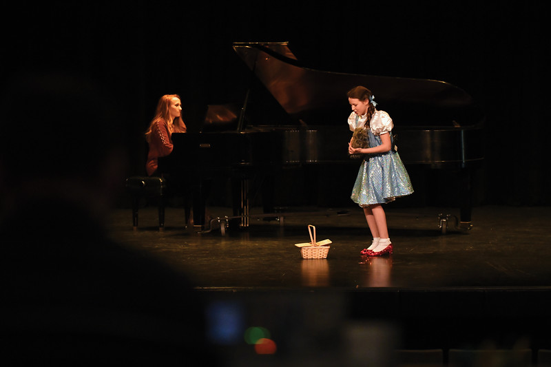 "Matthew Gaston | The Sheridan Press<br>Charlize Gonda, 11, performed ""Somewhere Over the Rainbow"" with Tammy Doke on piano for her audition for ""Stars of Tomorrow"" at the WYO Theater Thursday, Feb. 7, 2019."