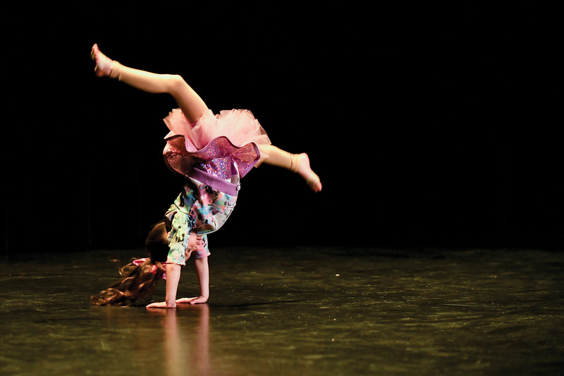 "Matthew Gaston | The Sheridan Press<br>7-year-old Alivya Neeriemer, a Highland Park Elementary School student, auditioned for ""Stars of Tomorrow"" with dance routine at the WYO Theater Thursday, Feb. 7, 2019."
