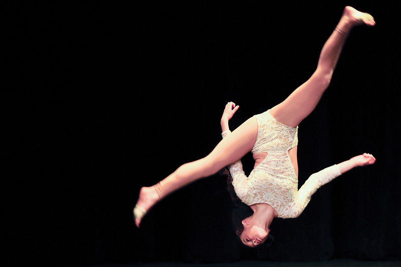"Matthew Gaston | The Sheridan Press<br>Amya Neeriemer, 11, combined gymnastics and ballet for her audition for ""Stars of Tomorrow"" at the WYO Theater Thursday, Feb. 7, 2019."