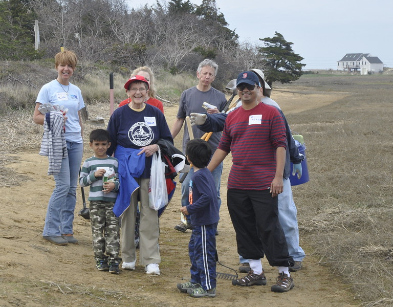 These Turtle Gardeners at Wellfleet are just one of many happy and helpful volunteer groups who participated in Statewide Volunteer Day.