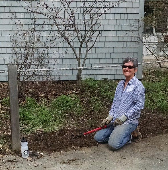 At Arcadia, volunteers laugh at the weeds!