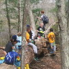 Snack-time = break-time for this scout troop.