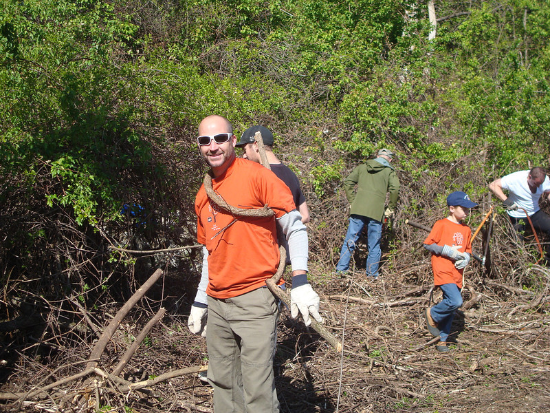 We removed 38 truckloads of invasives and non-native plants, such as bittersweet and multiflora rose,