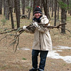 They picked up sticks and other debris, readying 21 campsites for the summer season.