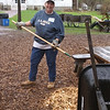 and spread the wood chips to restore 140 yards of trails.