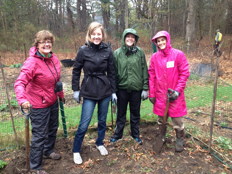 The rain fell, but it didn't dampen the enthusiasm of our wonderful volunteers!  Just check out a few of their accomplishments -- and their smiles!