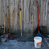 Saturday morning, April 30, and the tools are ready to go.   (c) Ken Wedge