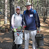 Some of the seasoned volunteers bring their own tools for tidying up the trails.