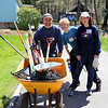 Volunteers come prepared to pitch in with a variety of projects.<br /> (c) Ken Wedge