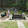 The large Sunken Garden at Endicott benefits from having many helping hands.