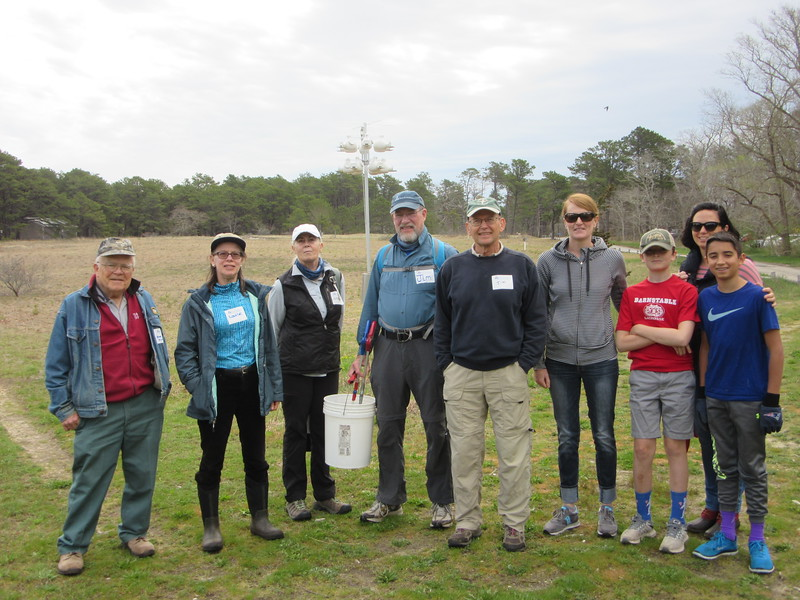 The campground cleanup crew at Wellfleet