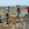 Volunteers prep turtle gardens for the summer nesting season.