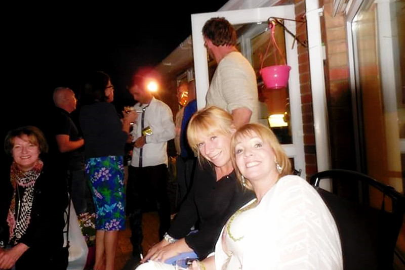 Nuala Perry and Margaret Rogers<br /> Stephen Perrys 50th birthday<br /> August 2015<br /> Taunton Avenue Belfast