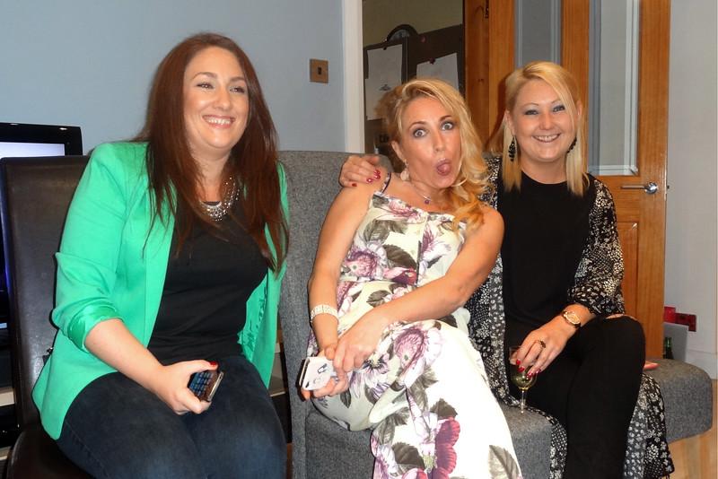 Grainne Maskey, Kathryn Quinn and Maureen Dowds<br /> Stephen Perryys 50th birthday<br /> August 2015<br /> Taunton Avenue Belfast