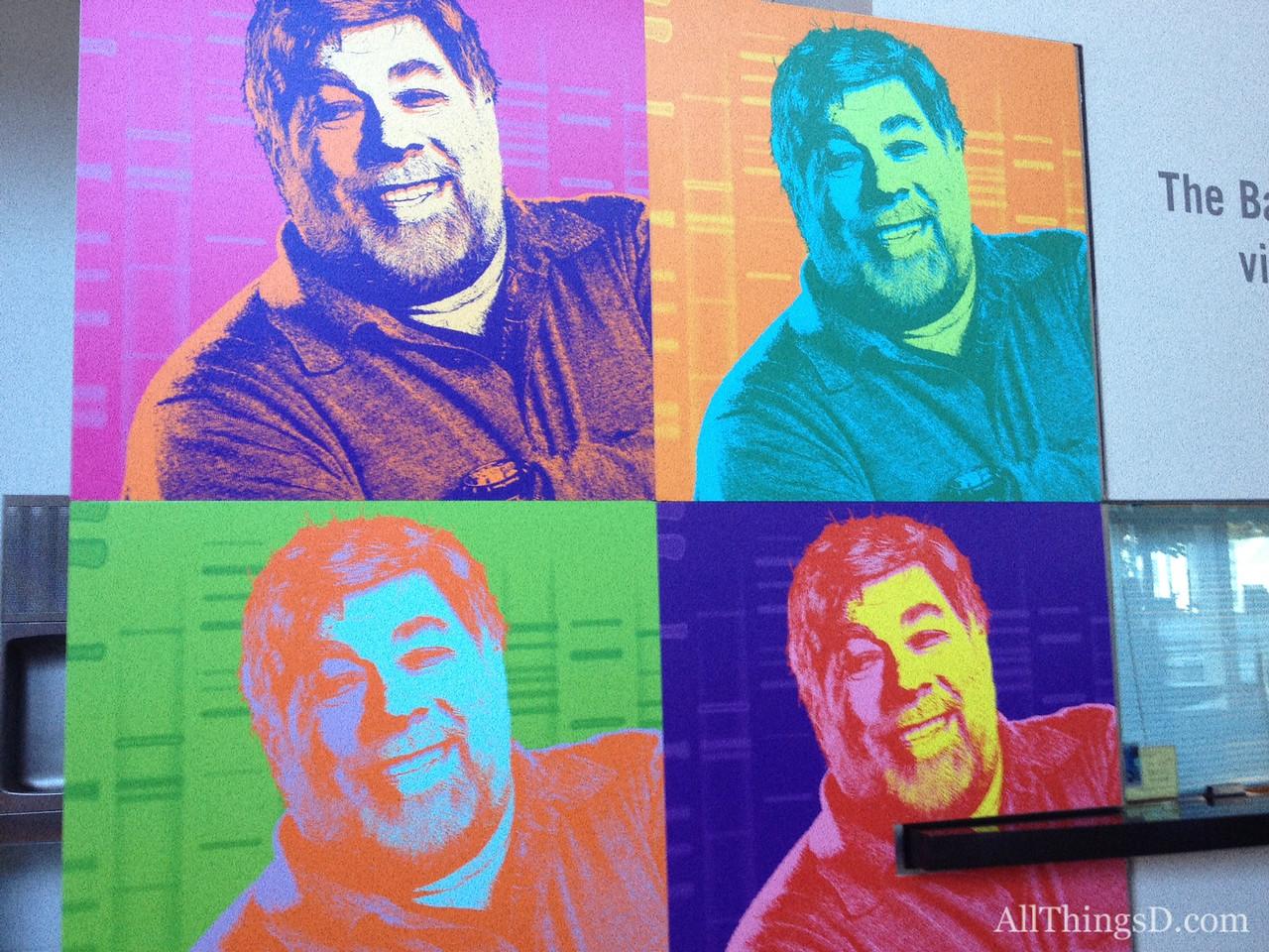 Steve Wozniak, with an Andy Warhol twist.