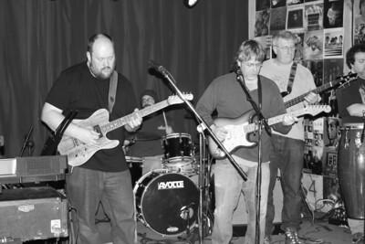 Sticky Greens band  with Christopher Gilbransen 2014 copyrt 2014 m burgess