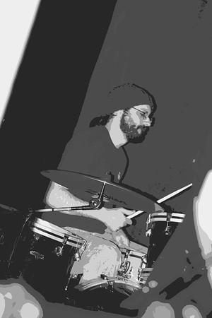 Chris Andrews on Drums  2014 m burgess