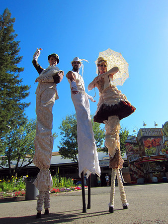 "Stephen Hues (left) Richard Dalton (center) and Star Child.  Members of Stilt Circus.<br />  <a href=""http://www.stiltcircus.com"">http://www.stiltcircus.com</a>"