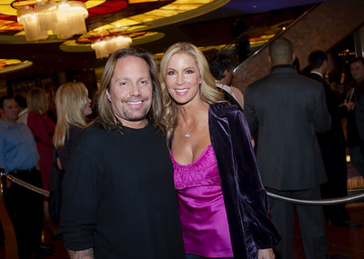 Vince Neil and wife in photo at stk steakhouse