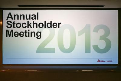Stockholder Meeting 2013