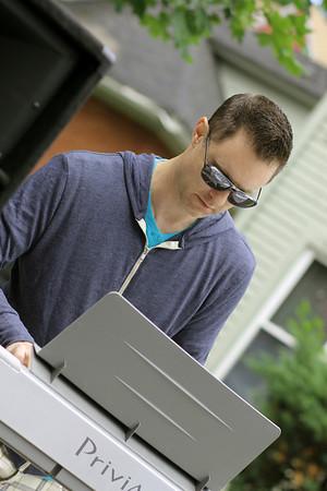 Scott Mixing the sounds - keyboard Magic June 2014
