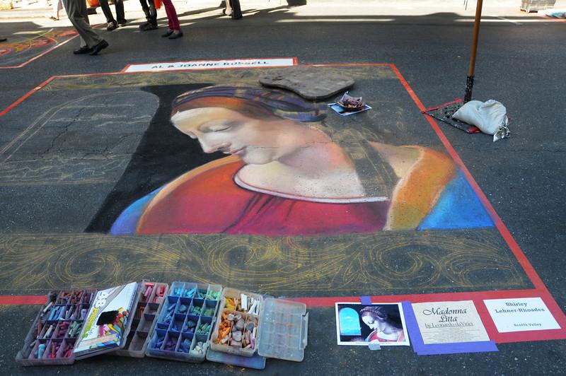 "Shirley Lehner-Rhoades takes on da Vinci's ""Madonna Litta"""
