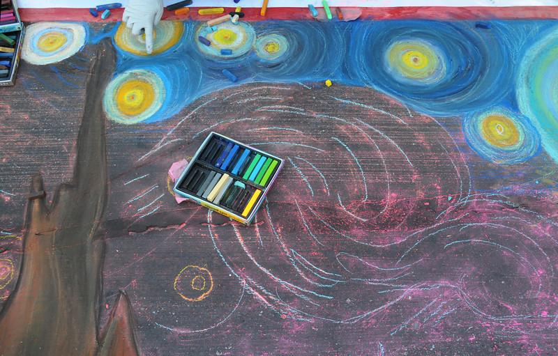 Mercedes Molloy has Vincent Van Gogh's Starry Night underway
