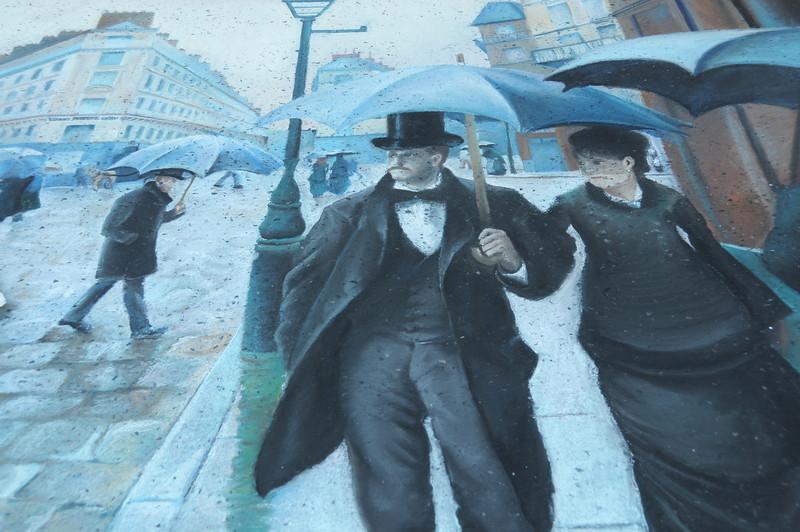 Rue de Paris, temps de pluie; Intersection de la Rue de Turin et de la Rue de Moscou or Paris, Rainy Day by Gustave Caillebotte