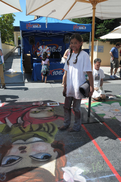 Kimmie and her street painting