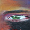 Cynthia Kostylo's working on some amazing green eyes in her piece