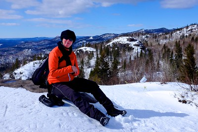 Snow shoeing at parc national des monts Valin; Saguenay