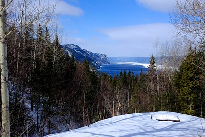 Snow shoeing at parc national du fjord du Saguenay