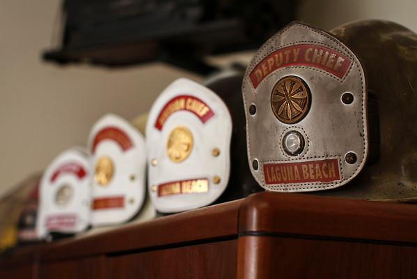 Helmets in Jeff's office