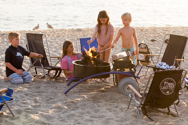 Portable fire pits can be reserved - Includes chairs, blankets and the makings for s'mores.