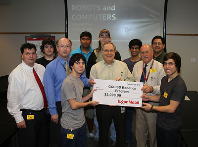 GCCISD Robotics team tours ExxonMobil