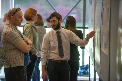 Westfield State University Student Research Project presentations in the Ely Campus Center, May 2016