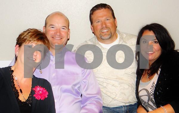 Tracy Hartley, Bruce Hartley, Doug Van Zyl, and Danielle Van Zyl.