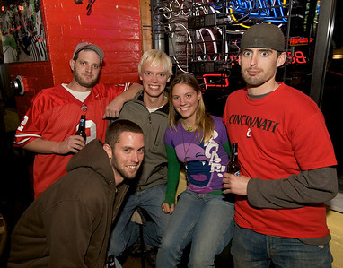 Mike, Joe, Kurt, Michelle and Matt at the Holy Grail in Clifton for the Sugar Bowl