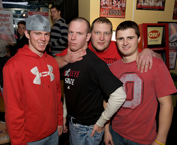 Dom, Rob, John and Stephen of Clifton at the Holy Grail in Clifton for the Sugar Bowl